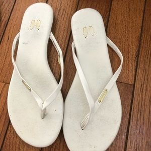 White thong flip flops Victoria secret